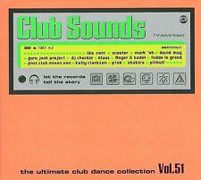 CLUB SOUNDS - Vol. 51 - 3 CDs Magasonic Scooter Pitbull Shakira Rivendell Klaas