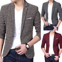 New Business Men Casual Slim fit One Button Suit Blazer Coat Jacket Outwear