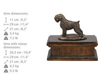 Black Russian Terrier, dog exclusive urn made of cold cast bronze, ArtDog, Ca