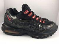 Nike Air Max 95 size 10.5 Black Patent Black + Varsity Red Sneakers [609048-037]