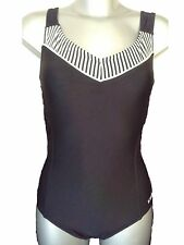 New Black & White Swimsuit UK 10 Ladies Bathing Suit Swimming Costume Supportive
