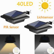 Solarleuchten 40LEDs fur Dachrinnen Zaun mit PIR Sensor/Lichtsensor Beleuchtung