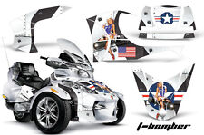 AMR Racing Can Am BRP RTS Spyder Graphic Kit Wrap Street Bike Decal TBOMB WHITE