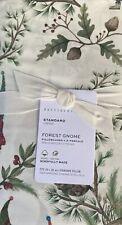 Pottery Barn Forest Gnome Organic Cotton Standard Pillowcase Set/2