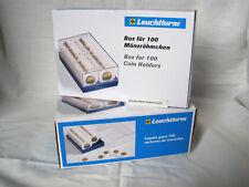 Leuchtturm Kunststoffbox für 100 Münzrähmchen blau