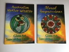 """""""Australian Native Wildlife"""" & """"Floral Impressions""""  Stained Glass Pattern Book"""