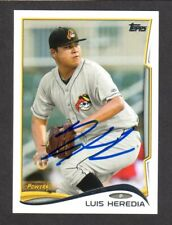 2014 TOPPS DEBUT #33 Luis Heredia  PITTSBURGH PIRATES  SIGNED AUTOGRAPH AUTO COA