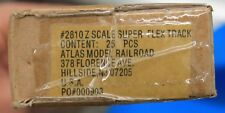 """Z Scale - ATLAS 2810A Full Box of 24"""" FLEX TRACK Factory Sealed 25 sections NEW"""