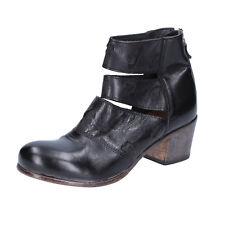 scarpe donna MOMA 37 EU tronchetti nero pelle BX986-37