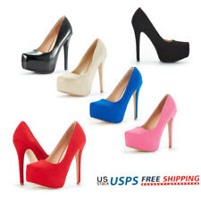 Women Pump Shoes High Heel Stilettos Slip On Platform Wedding Party Dress Shoes