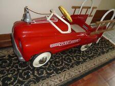 Vintage 1955 Murray Fire Truck Pedal Car Professional Restore Hallmark GORGEOUS