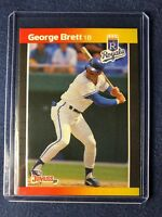 1989 Donruss GEORGE BRETT Baseball Card #204 Kansas City Royals MINT!  HOF