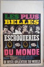 Affiche LES PLUS BELLES ESCROQUERIES DU MONDE Chabrol GODARD Aff. Belge 1964