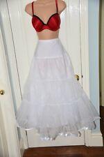 """FP - Longer length (36"""") Bridal petticoat, BN, White"""