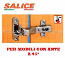 CERNIERA CERNIERE SALICE FORO MM.35 PER ANTE PORTE MOBILI CON ANTE A 45 GRADI