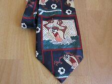 TAZ Diavolo della Tasmania CALCIO immagini LOONEY TUNES 1996 Warner Bros Tie