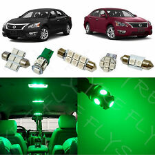 7x Green LED lights interior package kit for 2013 & up Nissan Altima Sedan NA3G