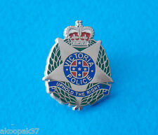 VICTORIA POLICE LAPEL BADGE ENAMEL AND NICKEL SILVER 25MM HIGH SOCIAL ITEM ONLY