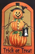 "Halloween Pumpkin Scarecrow House Flag 28""X40"" Trick or Treat Decorative Flag"