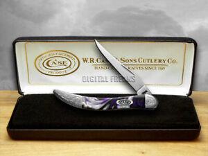 Case xx Toothpick Knife Engraved Bolster Purple Passion Corelon 910096PP/E