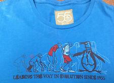 Mens T-Shirt Vintage L 55 Blue Leading the Way in Evolution Since 1955 Penguin