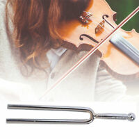 AU_ 440Hz A Tone Stainless Steel Fork Violin Guitar Musical Instrument Tuner