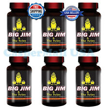 PACK OF 6 Big Jim & The Twins Natural Hard Enlargement Pill Male Enhancement