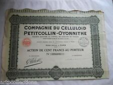1929 Action 100F CELLULOID PETITCOLLIN (JOUETS TOYS)