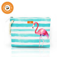 Women's Wet Bikini Clutch Bag Brand Designer Fashion Stripe Lady's Handbag