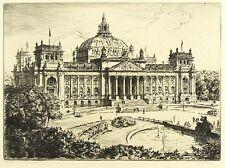 BERLIN - Reichstag - Walter Zeising - Radierung 1929