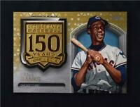 2019 Topps Series 2 150th Anniversary Medallion Gold #AMM-EB Ernie Banks /50