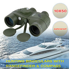 Sale! 10X50 Binoculars with RangeFinder&Compass Green