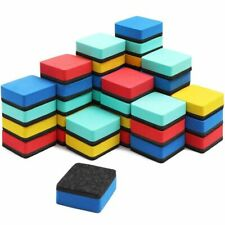 40x Mini Small Dry Erase Erasers Set Felt And Foam For Classroom Office 2 X 2