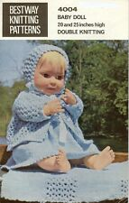 Baby Dolls Clothes Copy Knitting Pattern 50 - 55 cm ins dolls 4 ply