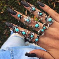 11pcs Silver/Gold Boho Stack Plain Above Knuckle Ring Midi Finger Rings Set Gift