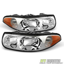 2000-2005 Buick Lesabre Headlights Headlamps Replacement Pair Left+Right 00-05