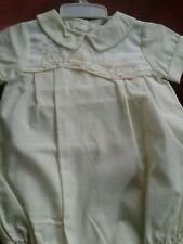 Carriage  Boutique Boy  Bubble Yellow with Train Embroidered Yoke Heirloom