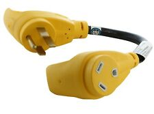 50 Amp NEMA 14-50P to NEMA TT-30R Flexible RV Plug Adapter