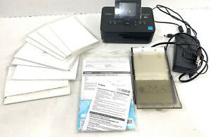 Canon Selphy Photo Printer CP900 Black Adapter Manuals 8 Packs Paper WORKS GREAT