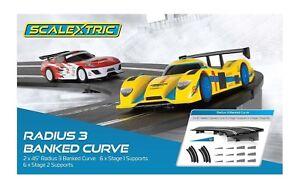 Scalextric Radius 3 10º Banked Curve 45º, 2/pk 1:32 slot car track C8297