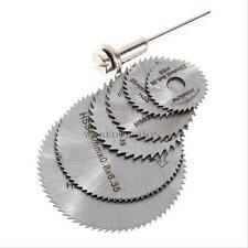 6PC Cutoff Circular Saw HSS Rotary Blade Tool Cutting Discs Mandrel 22mm-50mm