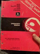Original John Deere 882077206620 Combine Operators Manual