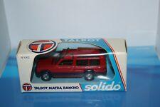 1/43 TALBOT MATRA RANCHO ROUGE BOITE TALBOT-SOLIDO ORIGINE