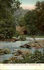 Philadelphia USA postcard ~1910/20 Wissahickon Creek Fairmount Park Fluß Brücke