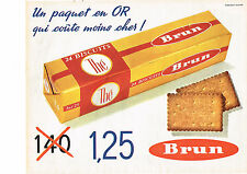 PUBLICITE ADVERTISING  1962   BRUN  biscuits THE