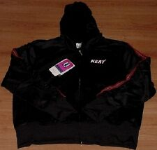 Miami Heat Ladies Glam Hooded Jacket Reebok Hoodie NBA Full Zip