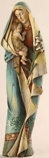 """SALE! 12"""" Madonna & Child With Lily Statue Figurine Religious Gift Mother Mary"""