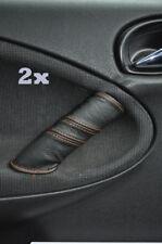 Se adapta a Rover 200 25 mg Zr 2x Manija De Puerta cubre puntadas de hilo naranja
