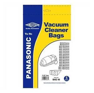 Panasonic C2E Type MC-E Vacuum Cleaner Hoover Bags 5PK MCE60 MCE80 MCE BAG40
