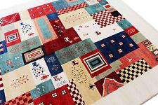 "4'7x""x6'7"" Tribal Animal Gabbeh Loribaft 100% Woollen Hand Knotted Rug & Carpet"